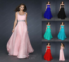 Stock Long Chiffon Women's Bridesmaid Dress Evening Party Prom Dress Ball Gowns