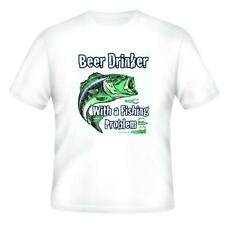 Sports T-shirt Beer Drinker With A Fishing Problem