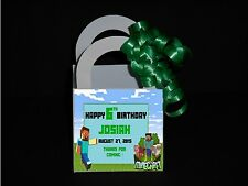 Mine Craft Pesonalized Favor Boxes Birthday  Favor Boxes Ribbon Included
