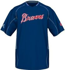 Atlanta Braves Majestic Vintage Mens Champ Jersey Royal Blue Big & Tall Sizes