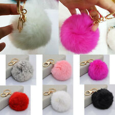 Soft Cute Rabbit Fur Ball Cell Phone Car Pendant Handbag Key Chain Ring Hot
