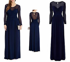 New Exquisite COAST 'MILLICENT' Navy MAXI EVENING CRUISE GOWN 8-18 RRP £160
