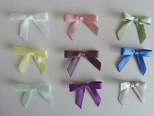 7mm  Single Sided Satin Ribbon Bows x 30 in 9 Colourways