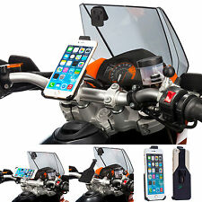 Motorcycle Handlebar Top Clamp Bolts Mount + Dedicated Holder for iPhone 6 Plus