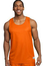 SportTek PosiCharge Sleeveless Reversible Mesh Basketball Jersey Tank Men Orange