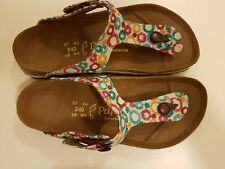 REDUCED - PAPILLIO LIC.BIRKENSTOCK - GIZEH TEAL X - LEATHER/TEXTILE