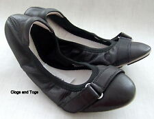 NEW CLARKS JESSICA REALLY SOFT BLACK LEATHER SHOES PUMPS SIZE 4 / 37