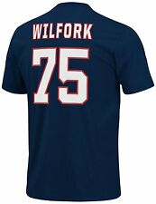 Vince Wilfork New England Patriots #87 Football T-Shirt Jersey LARGE