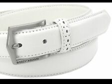 STACY ADAMS MEN'S PINSEAL LEATHER BELTS,WHITE, NEW WITH TAGS!!