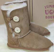 Genuine Jumbo Tall Button UGG Sheepskin Snow Boots Winter 100% Australian Made