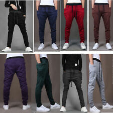Mens Casual Jogger Dance Sportwear Baggy Harem Pants Slacks Trousers Sweatpants