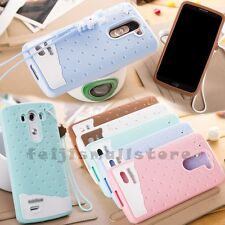 Cute Sweet Soft Skin Rabbit Robot Rope GEL Silicone Rubber Case Cover For LG