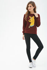 Scooby Doo Burgundy Textured Pullover Sweater