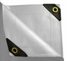 12 mil Heavy Duty WHITE Canopy Tarp - 3-Coated Tent Car Boat Cover - Diff. Sizes