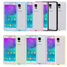 For Samsung Galaxy Note 4 Rubber Bumper Frame + Matte hard case Cover