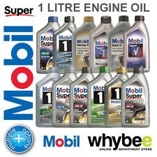 NEW! MOBIL 1 ENGINE OIL 1 LITRE ALL TYPES & GRADES! for CARS & MOTOR BIKES!