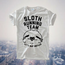 Sloth Running Team Lazy Sloth Ask Me Why Funny Costume Tee top T Shirts UNISEX