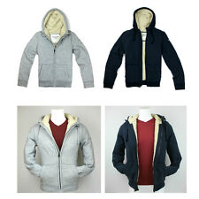 New Abercrombie A&F by Hollister Men Great Range Sherpa Lined Hoodie Jacket Coat