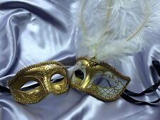 Masquerade Couple mask pair for man and woman fancy Dress up midnight Party Mask