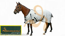 """Rumani Brand 290GSM Ripstop Fabric Summer Horse Rugs In 4'6"""" to 7'0"""" Size"""
