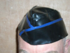 G.I. style hat in rubber with various colored trim.Gay/Gummi/Bluf/Rob/Folsom