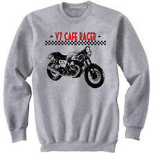 ITALIAN MOTORCYCLE V7 CAFE` RACER INSPIRED - NEW GRAPHIC SWEATSHIRT