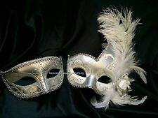 Mardi Gras Masquerade pair For man and woman Couple fancy midnight Party Mask