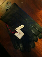 BNWT Dents Mens Black Leather Gloves Oxford RRP £56 Free P&P Black Size M only