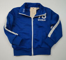 SCOTCH SHRUNK Boy's Bright Blue & White Zip Front Casual Track Jacket Top BNWT
