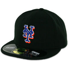 New York METS 2014 ALTERNATE Black New Era 59FIFTY Fitted Caps MLB On Field Hats
