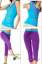 ZUMBA FITNESS CAPRI LEGGINGS & RACERBACK Tank Top SET~Rare!! ~Yoga,Cycle,etc S M