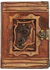 Chinese Dragon Pendant Refillable Leather Journal / Diary / Brown / Notebook