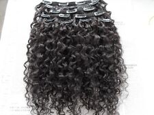 new hair extension curly clip in natural black weft virgin weaves unprocessed