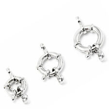 Sterling Silver S925 Spring Ring Clasp Jewelry Making Findings Design Craft