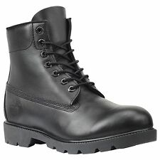 """Timberland Men's 6"""" Basic Leather Black Work Boots Style #10069"""