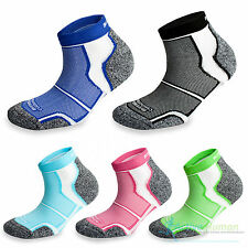 2 Pairs More Mile Cushioned Sports Running Ankle Socks Mens Ladies Womens Pack