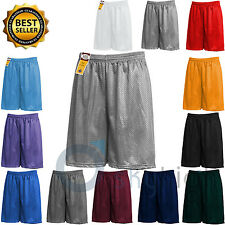 Men's Mesh Shorts Pockets workout Jersey pants S-5XL Plain Soft Basketball Gym