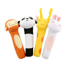 Colorful Animal Developmental Soft Stuffed Infant Plush Toy Rattle Kids Baby