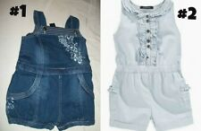 * NEW GIRLS 1PC CALVIN KLEIN ROMPER SUMMER OUTFIT 18m 2T 3T 4T 5 6x