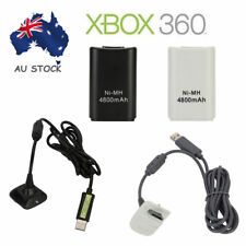 NEW 4800mAh Rechargeable Battery+ USB Charger Cable Pack for Xbox 360 Controller