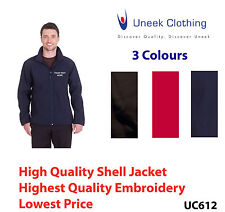 Custom embroidered Soft Shell Jacket Uneek UC612 Personalised with your text