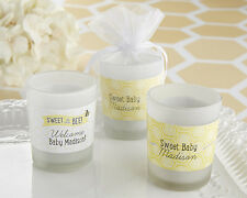 Personalized Sweet as can Bee Glass Votive Candle Baby Shower Birthday Favor