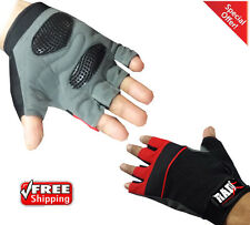 RAD Weight Lifting Gel Gloves Gym Fitness Exercise Body Building M-XXL Red1