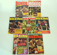 INTERNATIONAL BOXING & WORLD BOXING MAGAZINES - CHOOSE APRIL 1973 TO AUGUST 1977