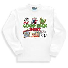 Long Sleeve T-shirt Adult Youth Novelty My Good Luck Shirt Bingo Cards Slots
