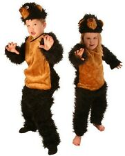 Fuzzy Brown Bear Gruffalo Boy's Girl's Book Week Fancy Dress Costume 3-5 & 6-8