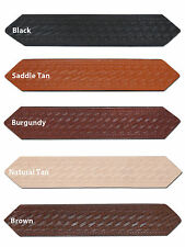 "New Barsony 1 3/4"" (1.75"") Basketweave Leather Belts for Sizes 47"" - 53"""
