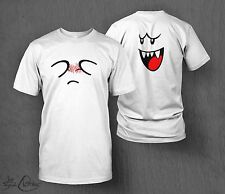 Nintendo Super Mario Boo Ghost T-Shirt MEN'S Double Sided Design! 3DS Wii U