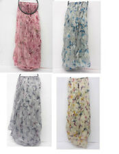 LADIES FASHION CRINKLE BUTTERFLY PRINTED SCARF 4 COLOURS 90567