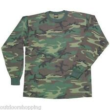 WOODLAND CAMOUFLAGE LONG SLEEVE T-SHIRT- Tee, Sun/Mosquitoes Protection